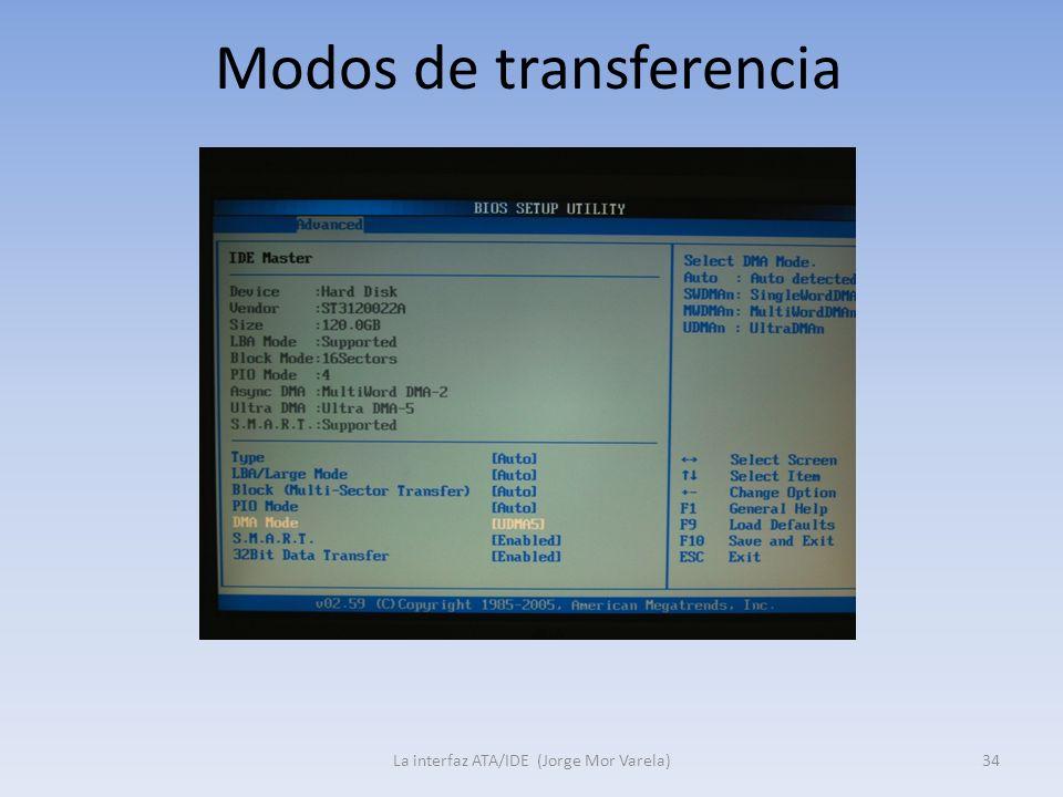 Modos de transferencia La interfaz ATA/IDE (Jorge Mor Varela)34