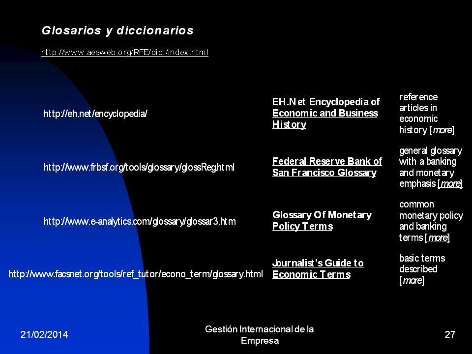 21/02/2014 Gestión Internacional de la Empresa 27