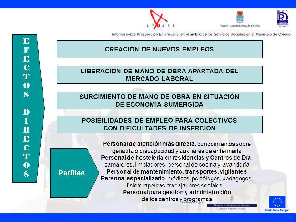 EFECTOSDIRECTOSEFECTOSDIRECTOS CREACIÓN DE NUEVOS EMPLEOS LIBERACIÓN DE MANO DE OBRA APARTADA DEL MERCADO LABORAL SURGIMIENTO DE MANO DE OBRA EN SITUA
