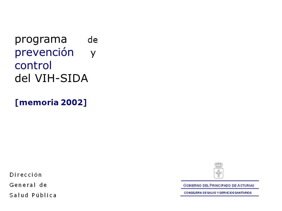 programa de prevención y control del VIH-SIDA [memoria 2002]