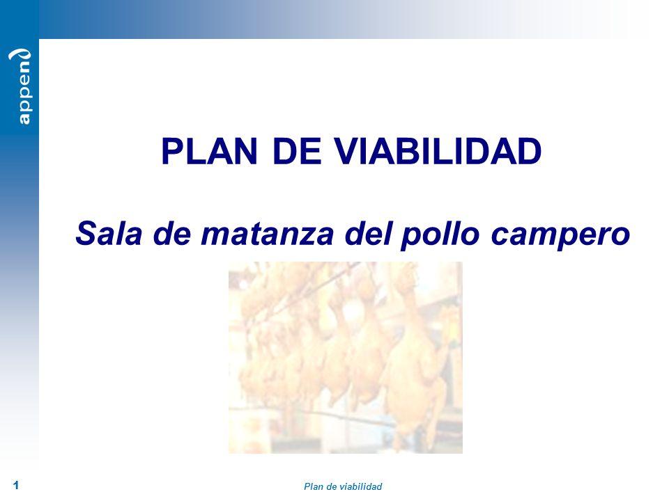 Plan de viabilidad 1 PLAN DE VIABILIDAD Sala de matanza del pollo campero