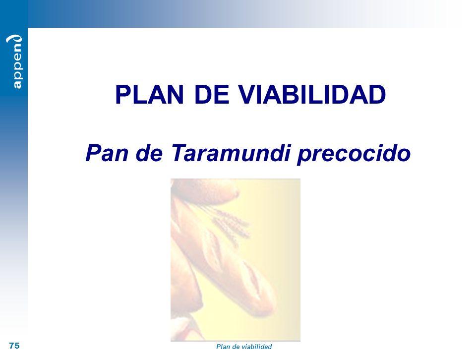 Plan de viabilidad 75 PLAN DE VIABILIDAD Pan de Taramundi precocido