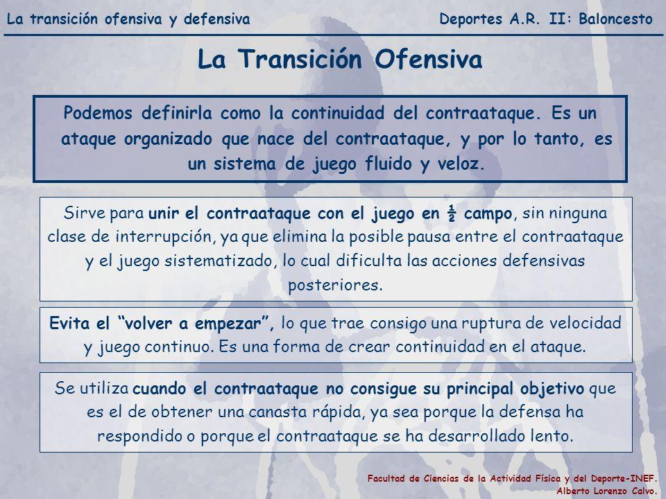La transición ofensiva y defensiva Deportes A.R.