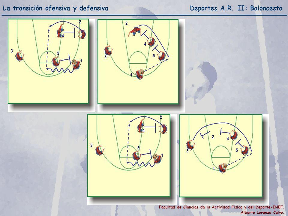 La transición ofensiva y defensiva Deportes A.R. II: Baloncesto Facultad de Ciencias de la Actividad Física y del Deporte-INEF. Alberto Lorenzo Calvo.