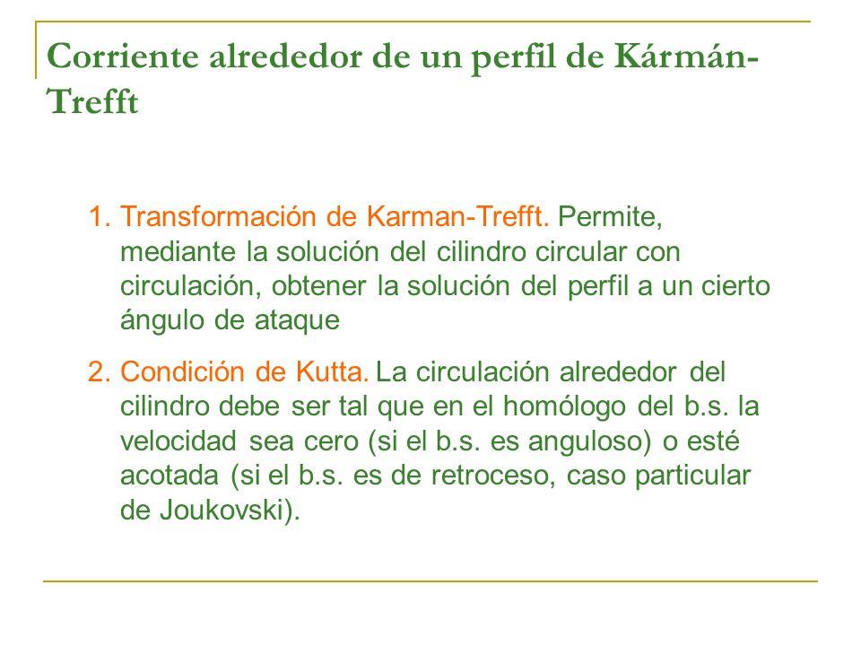 Corriente alrededor de un perfil de Kármán- Trefft 1.Transformación de Karman-Trefft. Permite, mediante la solución del cilindro circular con circulac