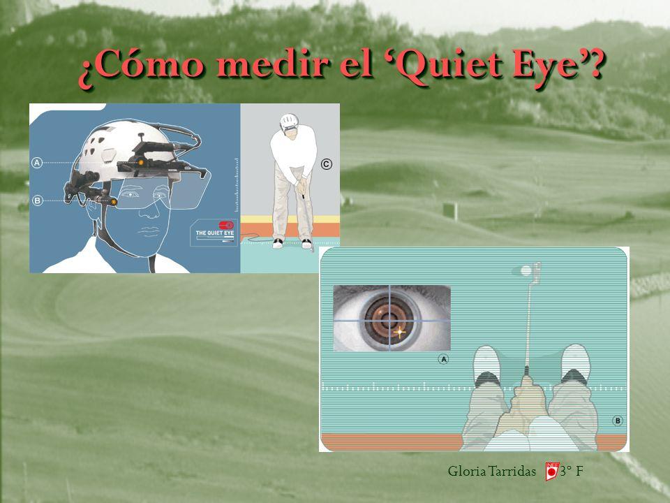 Gloria Tarridas 3º F ¿Cómo medir el Quiet Eye?