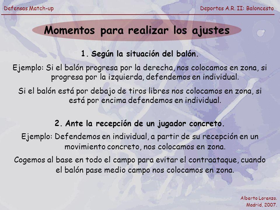 Alberto Lorenzo.Madrid, 2007. Defensas Match-upDeportes A.R.