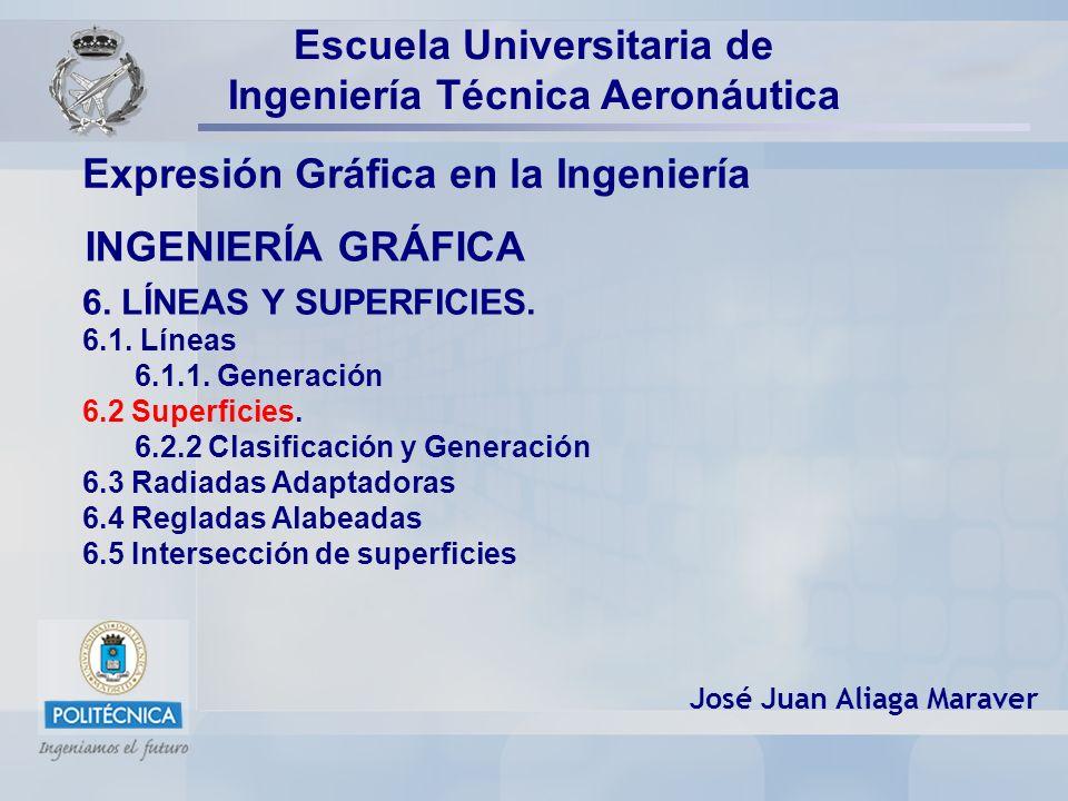 INGENIERÍA GRÁFICA Expresión Gráfica en la Ingeniería José Juan Aliaga Maraver Escuela Universitaria de Ingeniería Técnica Aeronáutica 6. LÍNEAS Y SUP