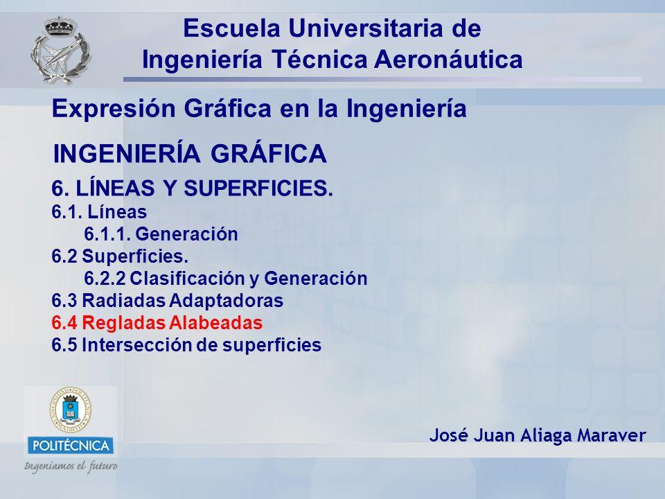 INGENIERÍA GRÁFICA Expresión Gráfica en la Ingeniería José Juan Aliaga Maraver Escuela Universitaria de Ingeniería Técnica Aeronáutica 6.
