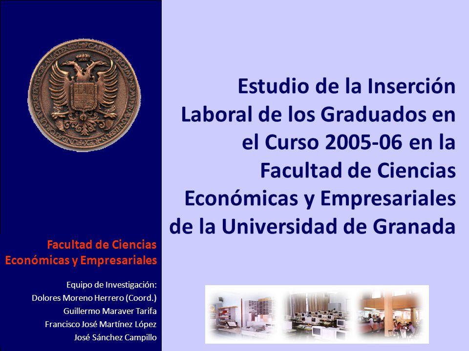 1 Estudio de la Inserción Laboral de los Graduados en el Curso 2005-06 en la Facultad de Ciencias Económicas y Empresariales de la Universidad de Gran