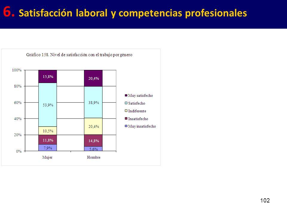 102 6. Satisfacción laboral y competencias profesionales