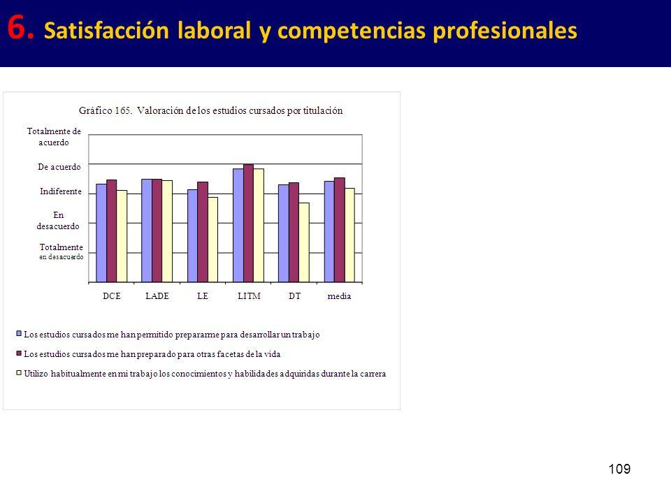109 6. Satisfacción laboral y competencias profesionales