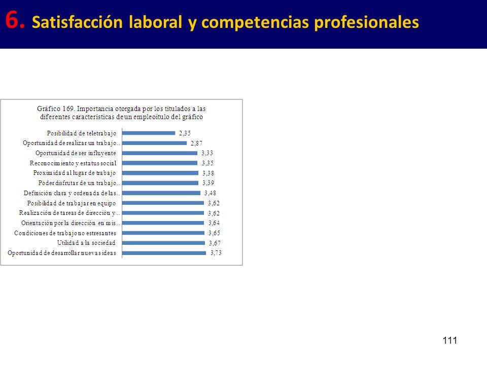 111 6. Satisfacción laboral y competencias profesionales