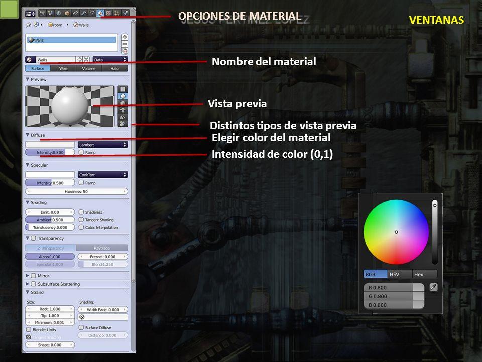 MATERIALES TEXTURAS I (disponibles en Blender) P.ej.