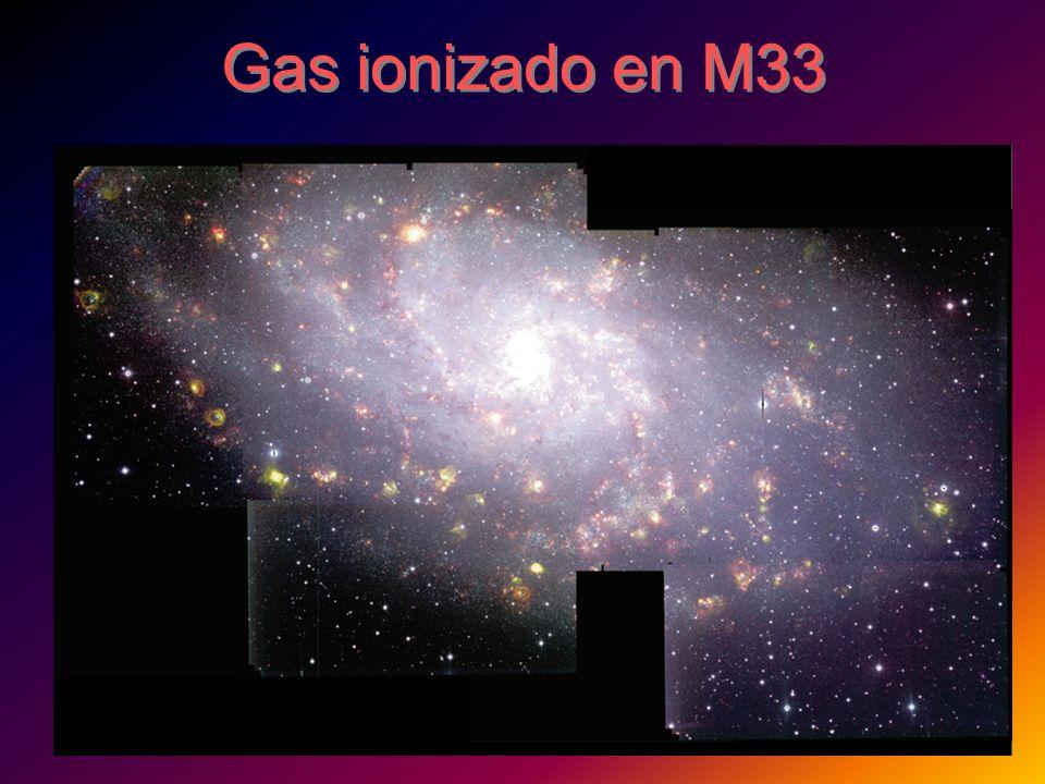 Gas ionizado en M33