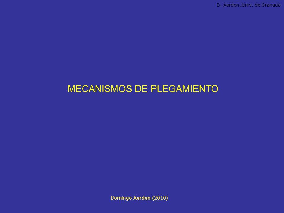 MECANISMOS DE PLEGAMIENTO Domingo Aerden (2010) D. Aerden, Univ. de Granada