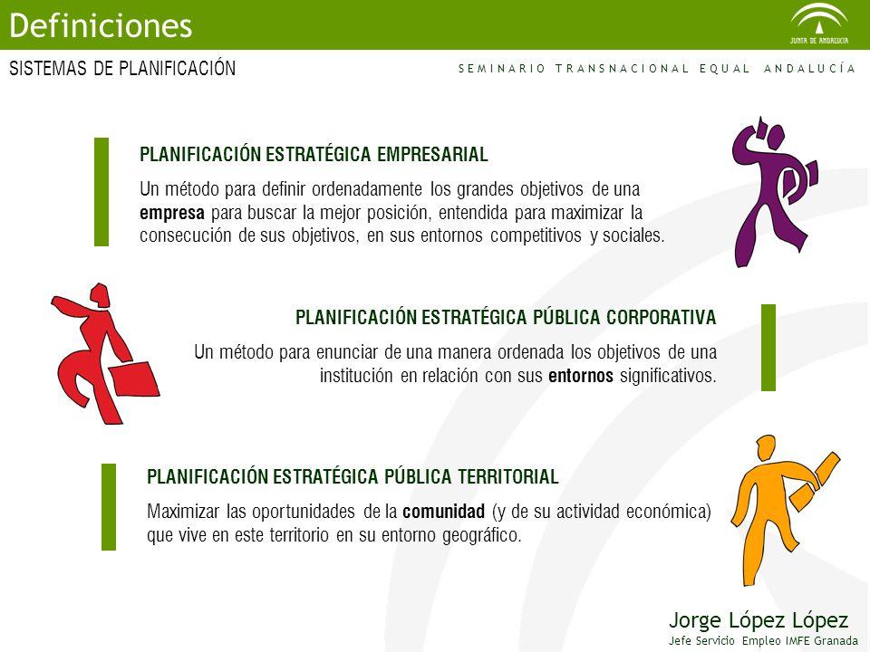 SISTEMAS DE PLANIFICACIÓN Definiciones PLANIFICACIÓN ESTRATÉGICA EMPRESARIAL Un método para definir ordenadamente los grandes objetivos de una empresa
