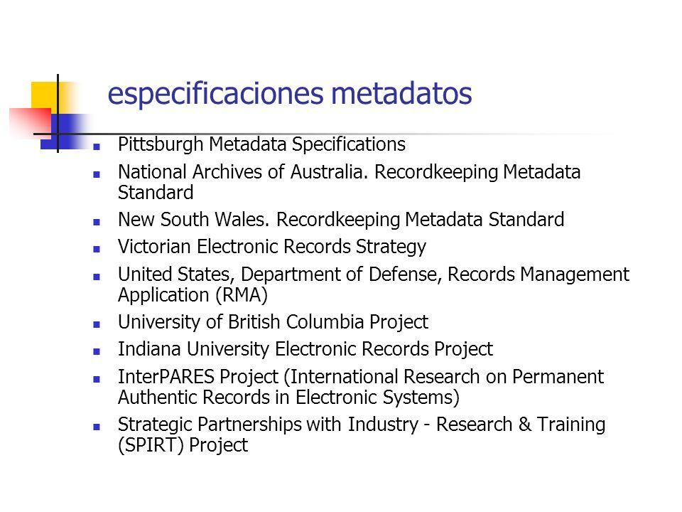 describiendo el registro electrónico registros papel: metadatos de contenido, contexto y estructura se incluyen o forman parte del documento contexto