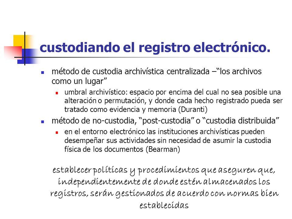conservando el registro electrónico museos de hardware y software: sería necesaria la construcción de una interfaz única conversión: conversión a form
