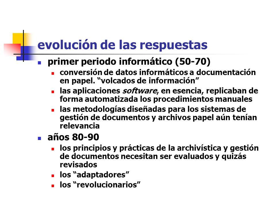 las preguntas ¿qué es un documento digital / electrónico? ¿hasta qué punto es diferente a los formatos tradicionales? ¿cómo gestionaremos y conservare