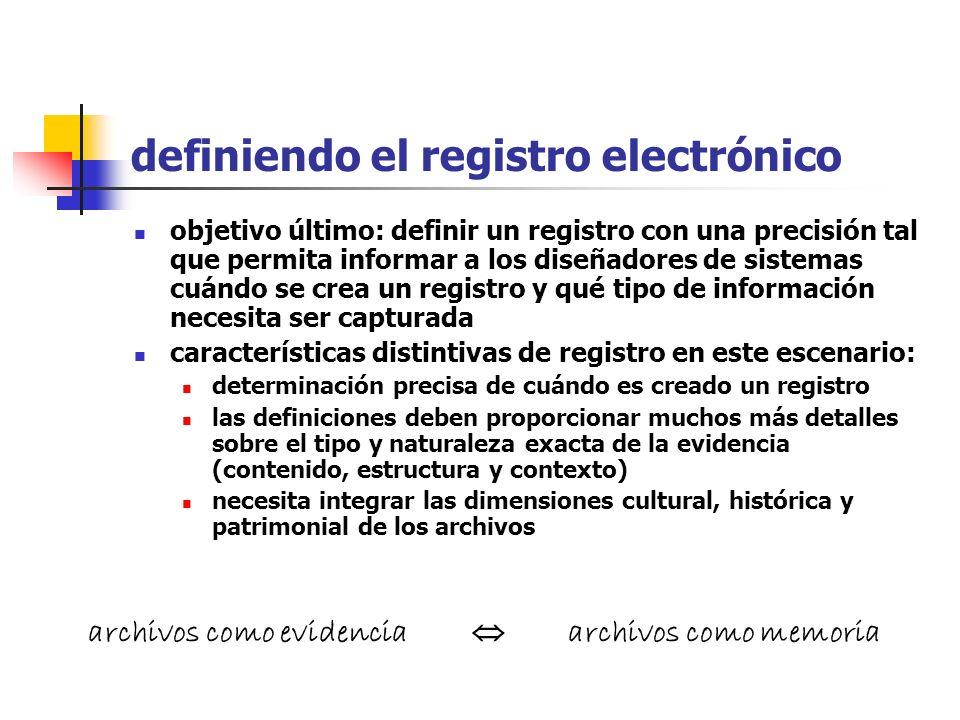 cuestiones ¿Qué es un documento en el contexto electrónico? ¿Cómo identificarán y valorarán registros los archiveros? ¿Qué documentación debe incorpor