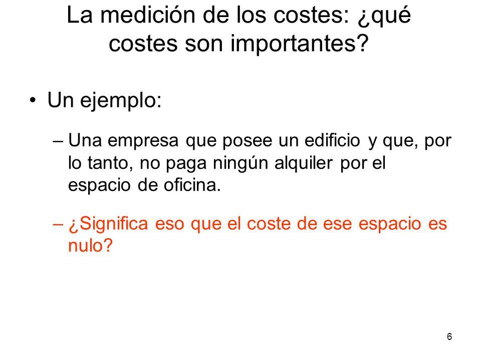 27 El coste a largo plazo Coste de uso del capital = Depreciación económica + (tipo de interés)(valor del capital) El coste de uso de capital