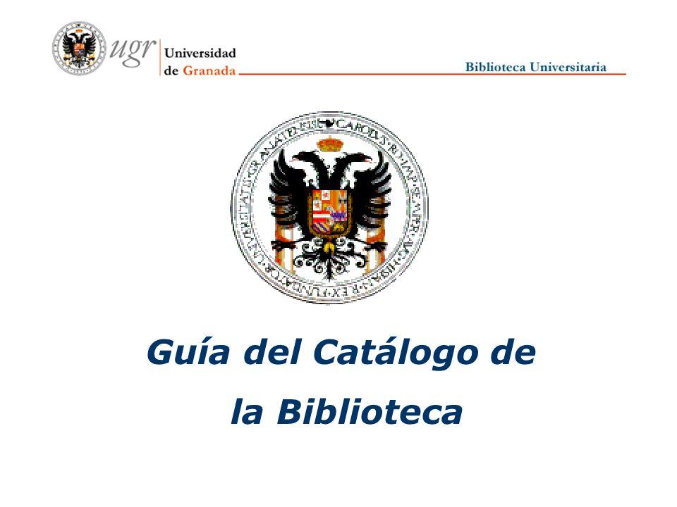 Guía del Catálogo de la Biblioteca