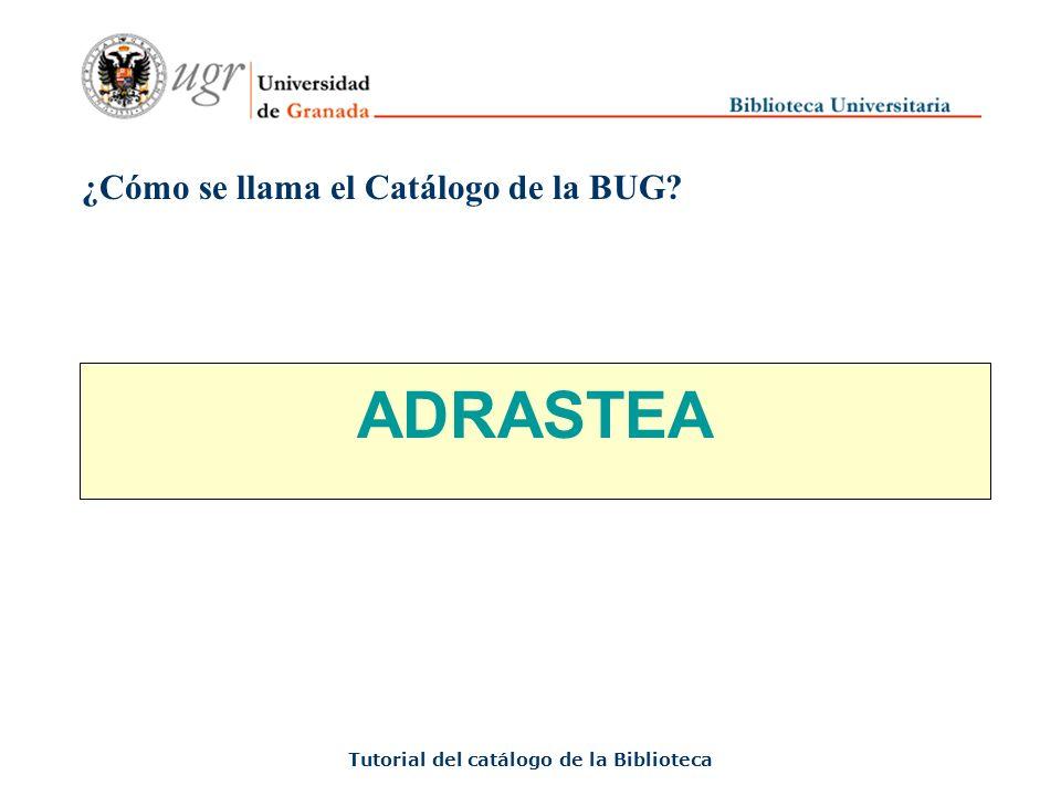 ¿Qué es el Catálogo de la BUG.