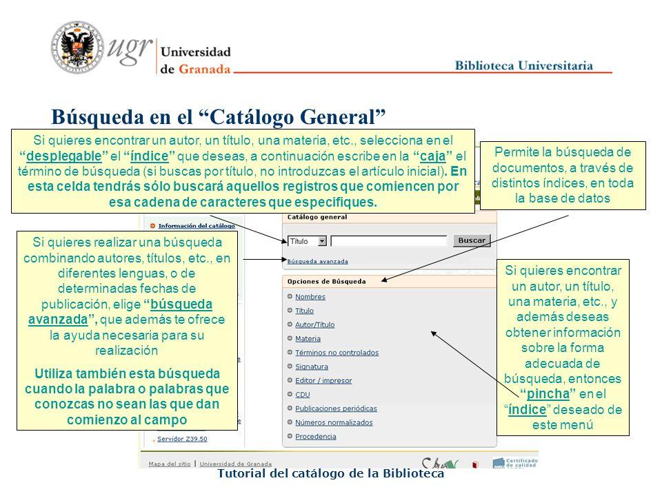Tutorial del catálogo de la Biblioteca FIN