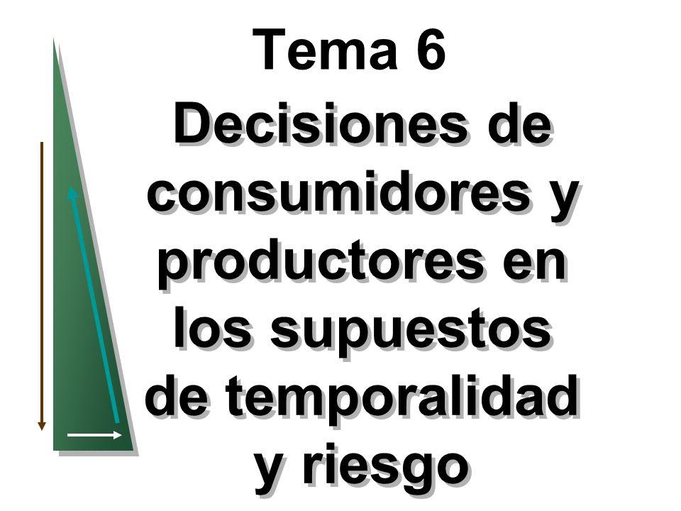 Tema 6 Decisiones de consumidores y productores en los supuestos de temporalidad y riesgo