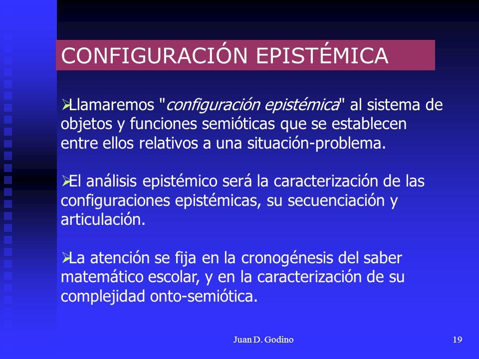 Juan D. Godino19 CONFIGURACIÓN EPISTÉMICA Llamaremos