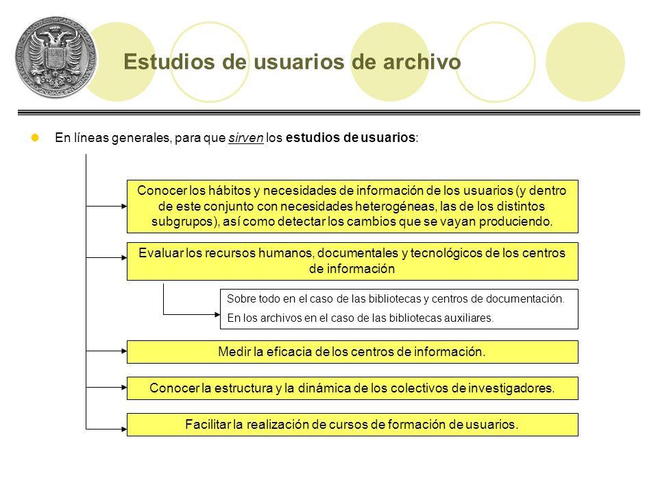 Los estudios de usuarios específicamente aplicados a los archivos son escasos, esto se debe especialmente a que: Los usuarios de archivos son considerados tradicionalmente como los más elitistas dentro de los centros de información.