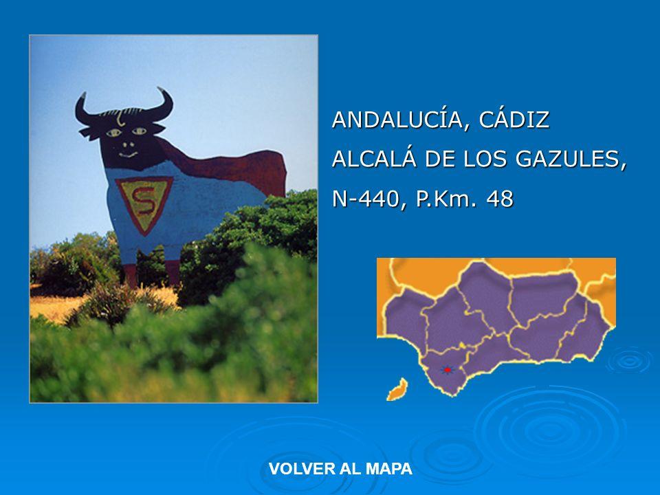 ANDALUCÍA, CÁDIZ ALCALÁ DE LOS GAZULES, N-440, P.Km. 48 VOLVER AL MAPA