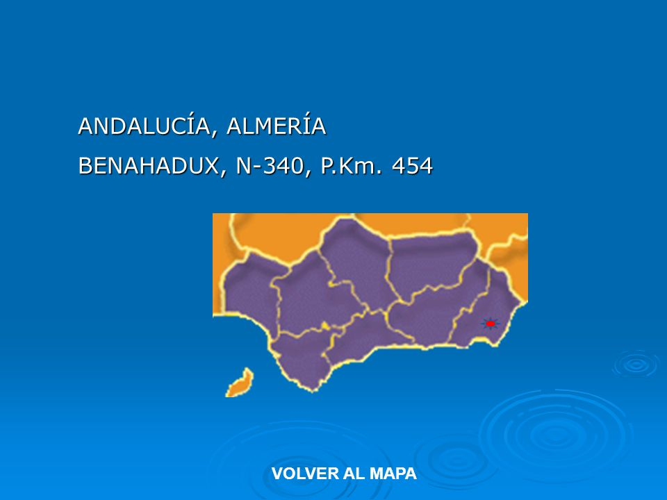 ANDALUCÍA, CÁDIZ TARIFA, PUERTO DE FACINAS, N-340, P.Km. 65 VOLVER AL MAPA