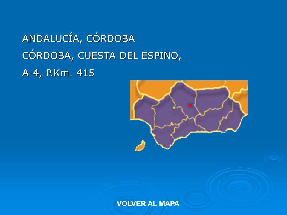ANDALUCÍA, CÓRDOBA CÓRDOBA, CUESTA DEL ESPINO, A-4, P.Km. 415 VOLVER AL MAPA
