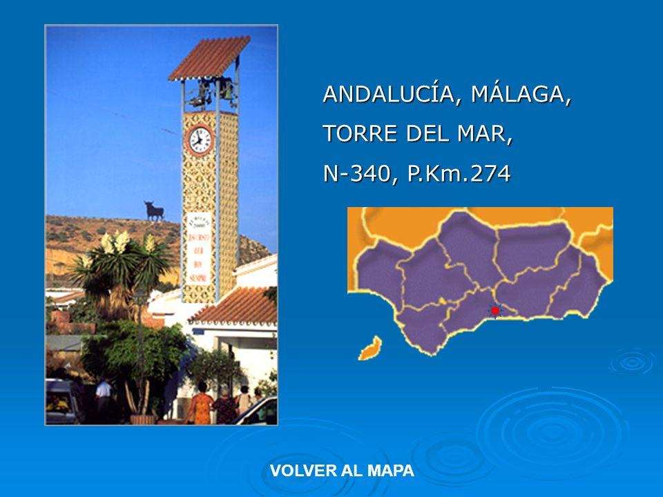 ANDALUCÍA, MÁLAGA LOS BOLICHES-FUENGIROLA, N-340, P.Km. 218,100 VOLVER AL MAPA