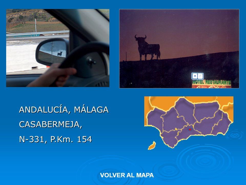 ANDALUCÍA, MÁLAGA CASABERMEJA, N-331, P.Km. 154 VOLVER AL MAPA