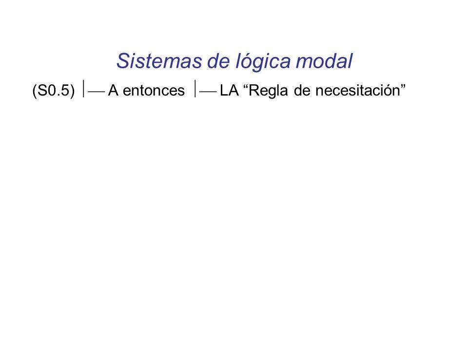 Sistemas de lógica modal (S0.5) A entonces LA Regla de necesitación