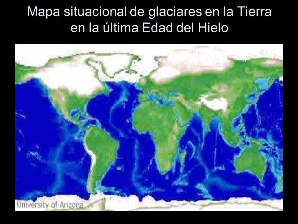 Mapa de la Tierra que muestra la extensa capa de hielo que cubría una gran parte del terreno hace 20.000 años.