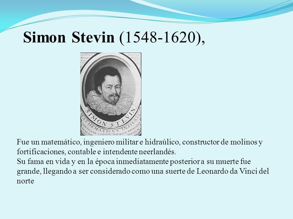 Stevin, ingeniero de Brujas, demostró que el centro de gravedad de un triángulo está situado sobre una mediana.