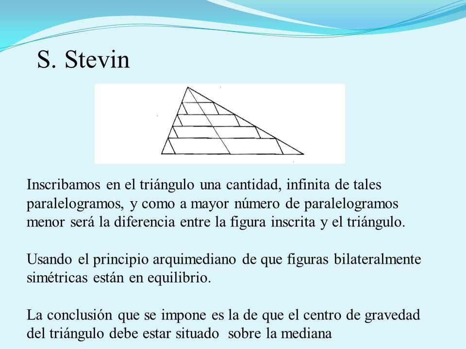 Inscribamos en el triángulo una cantidad, infinita de tales paralelogramos, y como a mayor número de paralelogramos menor será la diferencia entre la