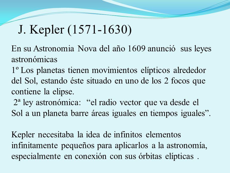En su Astronomia Nova del año 1609 anunció sus leyes astronómicas 1º Los planetas tienen movimientos elípticos alrededor del Sol, estando éste situado