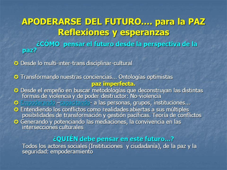 APODERARSE DEL FUTURO....