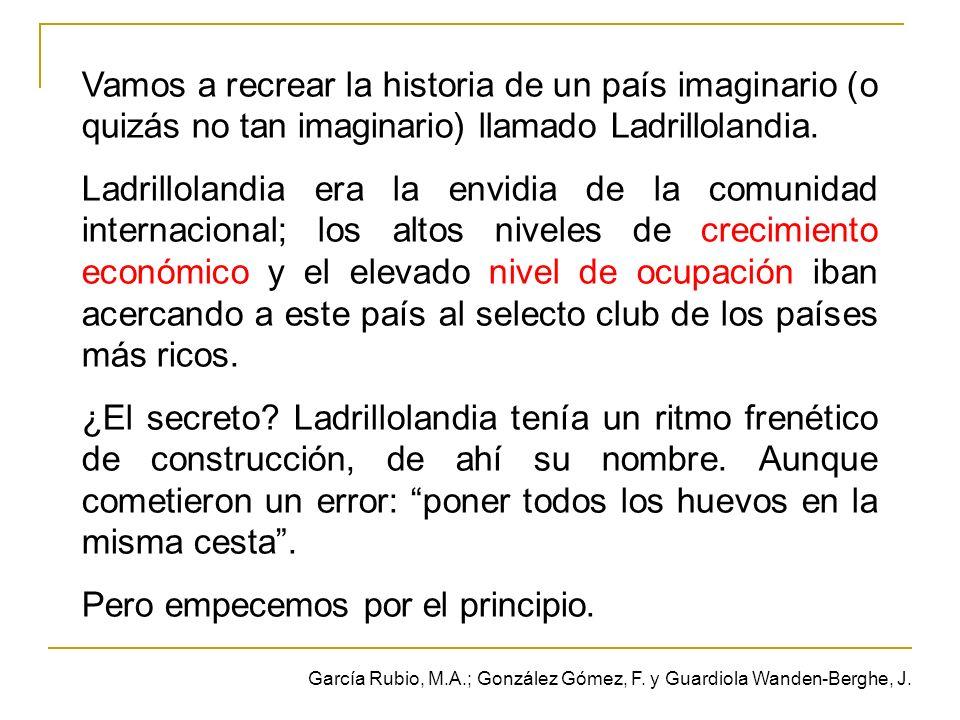 Vamos a recrear la historia de un país imaginario (o quizás no tan imaginario) llamado Ladrillolandia.