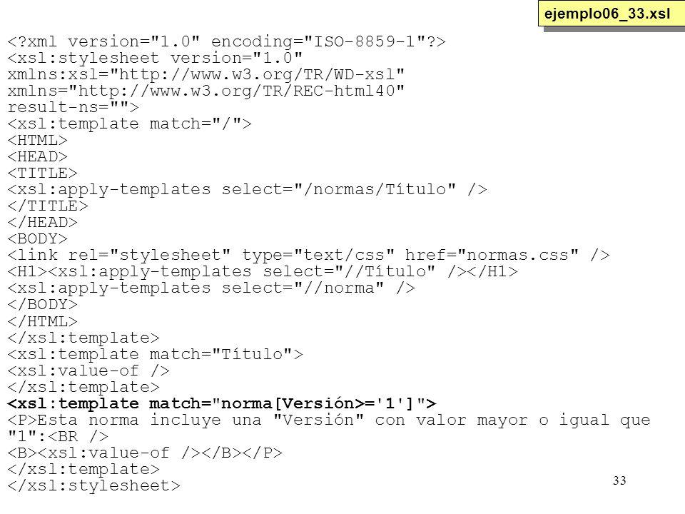 33 <xsl:stylesheet version=