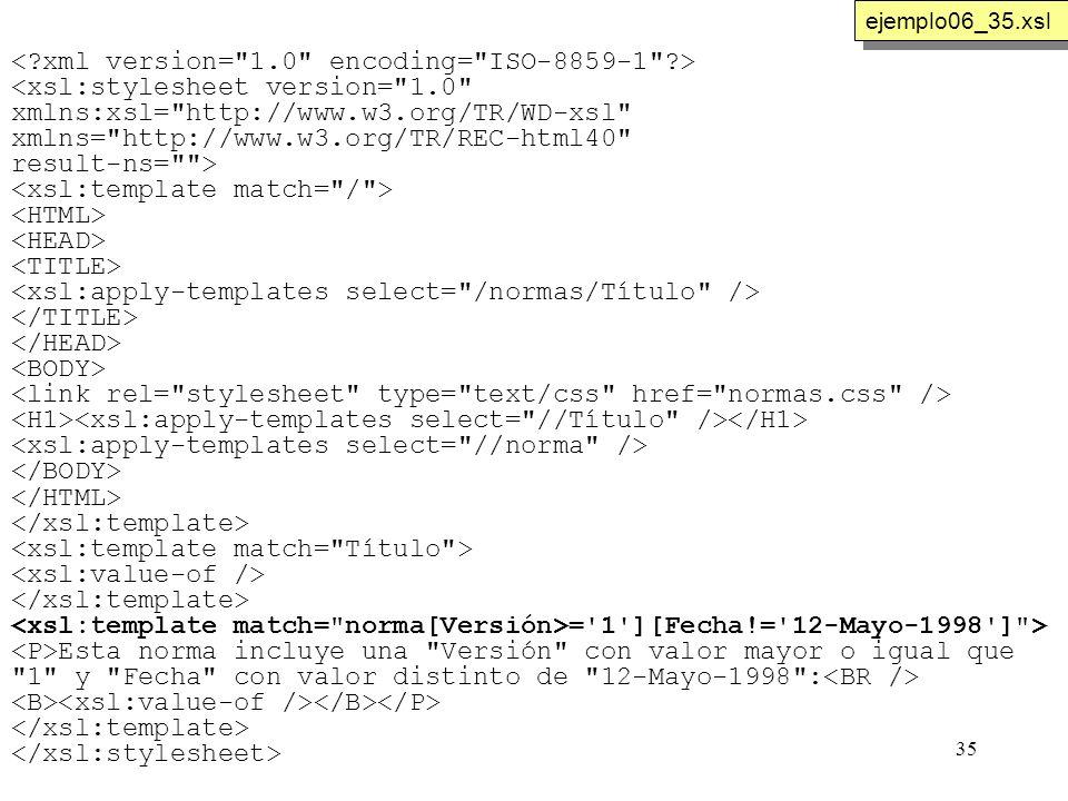 35 <xsl:stylesheet version=
