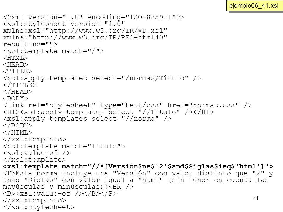 41 <xsl:stylesheet version=