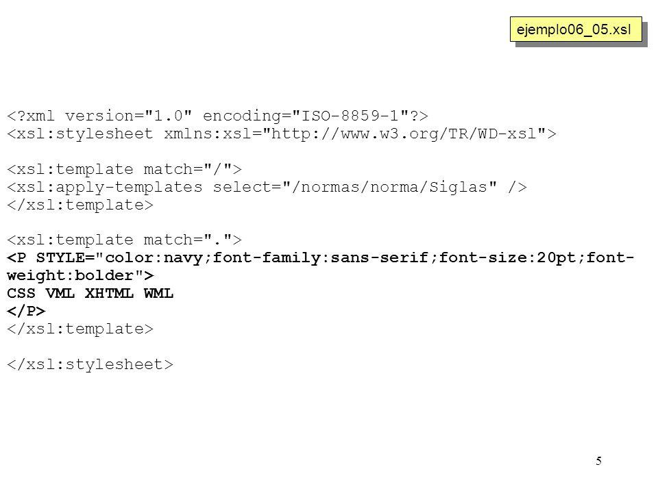 5 CSS VML XHTML WML ejemplo06_05.xsl