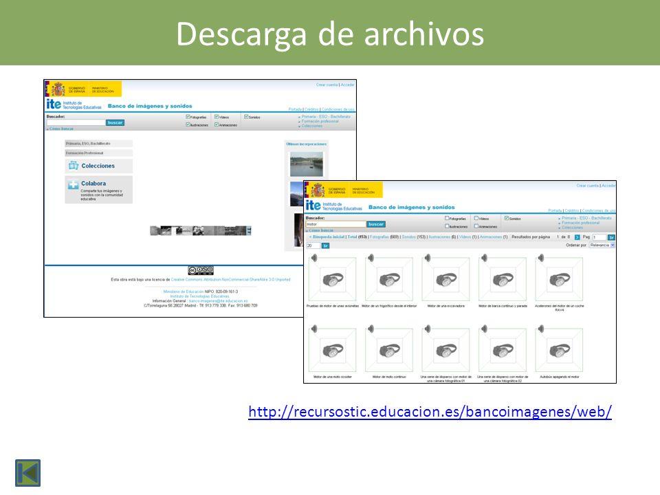 Descarga de archivos http://recursostic.educacion.es/bancoimagenes/web/