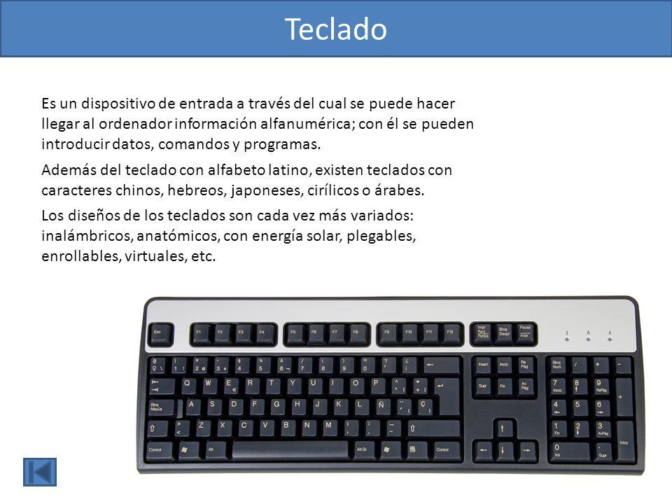 Ratón l El ratón es un dispositivo señalador que sirve para controlar el movimiento del cursor; para seleccionar y desplazar objetos; para abrir carpetas, menús, programas y ventanas de diálogo; etc.